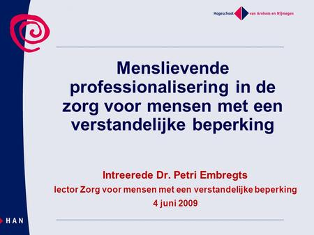 Intreerede Dr. Petri Embregts