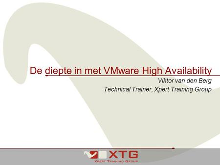De diepte in met VMware High Availability