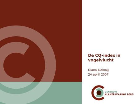 De CQ-index in vogelvlucht
