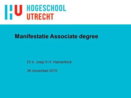 Manifestatie Associate degree