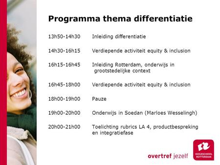 Programma thema differentiatie