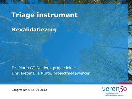 Triage instrument Revalidatiezorg