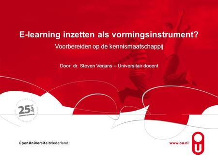 E-learning inzetten als vormingsinstrument