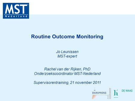 Routine Outcome Monitoring
