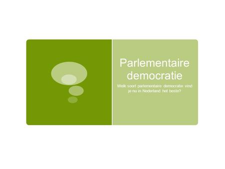 Parlementaire democratie
