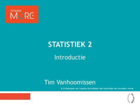 Introductie Tim Vanhoomissen