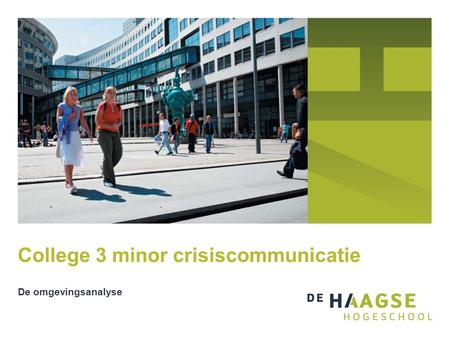 College 3 minor crisiscommunicatie