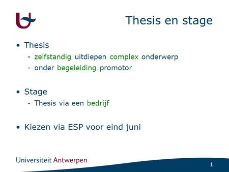 Stages of the Thesis Life