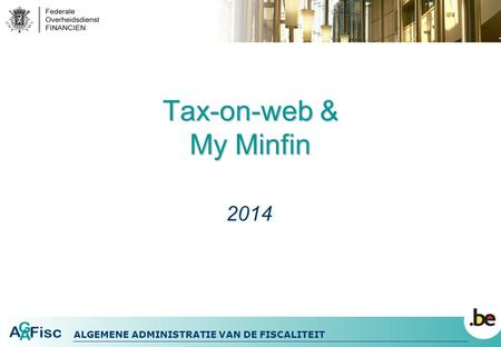 Tax-on-web & My Minfin 2014.