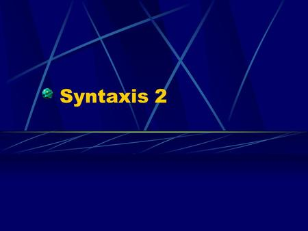 Syntaxis 2.