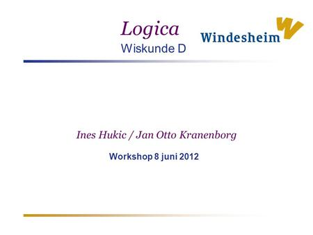 Ines Hukic / Jan Otto Kranenborg Workshop 8 juni 2012