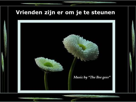 "1 Music by ""The Bee gees"" Vrienden zijn er om je te steunen."