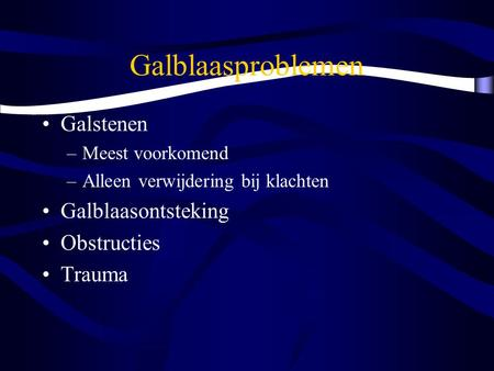 galblaasontsteking kind