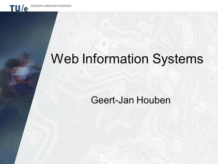 Web Information Systems Geert-Jan Houben. Hypermedia hypertext + multimedia –informatie-objecten (tekst, plaatjes, animaties, audio, video) –alles in.