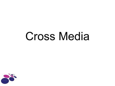 Cross Media. Terugblik Verschuiving Medialandschap Wat is Cross Media? –Doelgroep –Doelstelling –Strategie –Instrumenten.