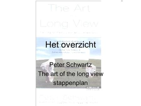 Het overzicht Peter Schwartz The art of the long view stappenplan.