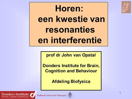 Donders Institute for Brain, Cognition and Behaviour
