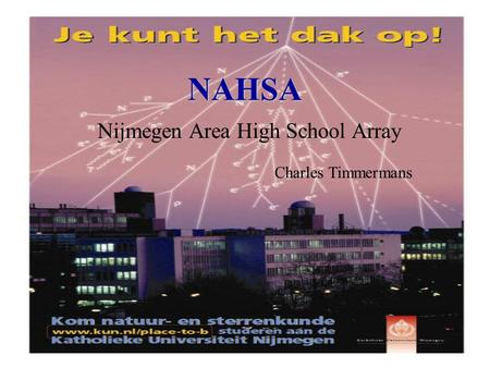 NAHSA Nijmegen Area High School Array Charles Timmermans.