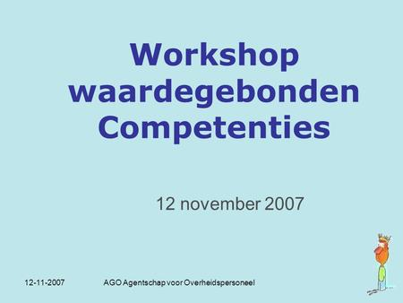 Workshop waardegebonden Competenties