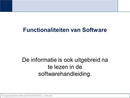 Functionaliteiten van Software