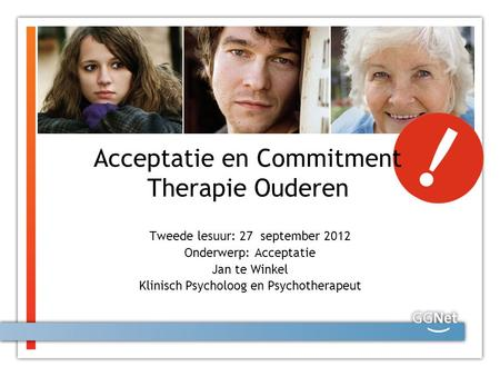 Acceptatie en Commitment Therapie Ouderen