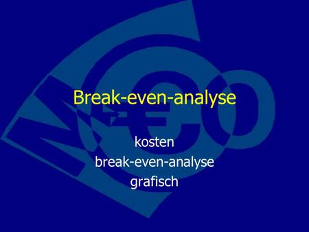 kosten break-even-analyse grafisch