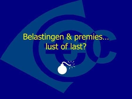 Belastingen & premies… lust of last? . Wat is de collectieve sector?