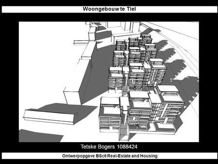 Woongebouw te Tiel Ontwerpopgave BSc6 Real-Estate and Housing Tetske Bogers 1088424.