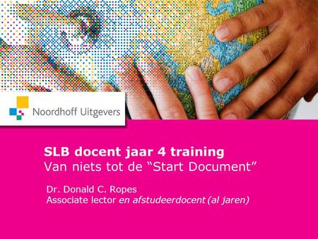 "SLB docent jaar 4 training Van niets tot de ""Start Document"""