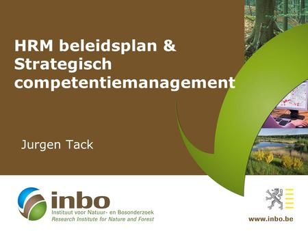 HRM beleidsplan & Strategisch competentiemanagement Jurgen Tack.