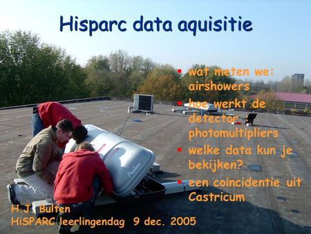 Hisparc data aquisitie