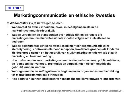 Marketingcommunicatie en ethische kwesties