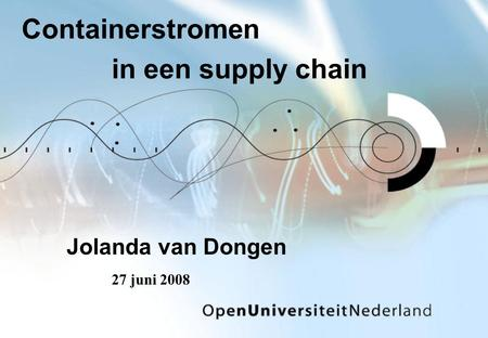 Containerstromen in een supply chain