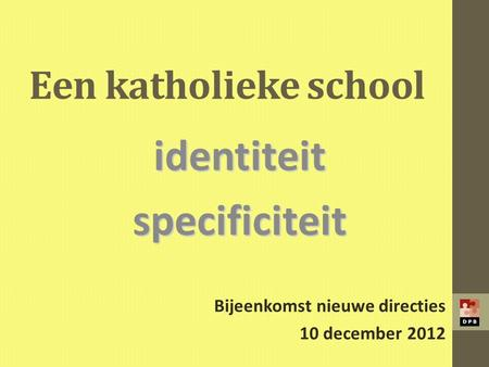 identiteit specificiteit