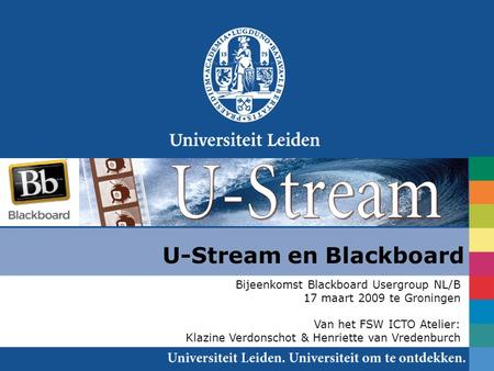 U-Stream en Blackboard