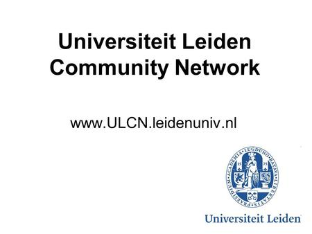 Universiteit Leiden Community Network