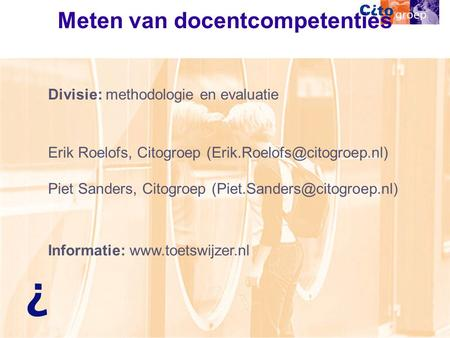 Meten van docentcompetenties