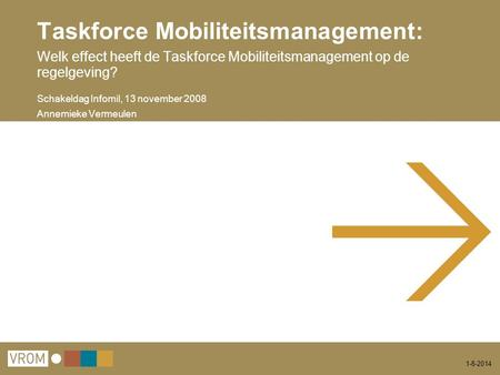 Taskforce Mobiliteitsmanagement: