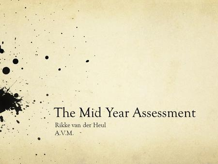 The Mid Year Assessment Rikke van der Heul A.V.M..