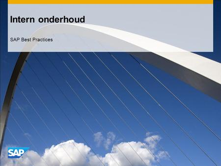 Intern onderhoud SAP Best Practices.