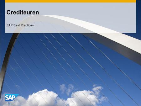 Crediteuren SAP Best Practices.