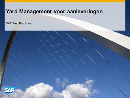 Yard Management voor aanleveringen SAP Best Practices.