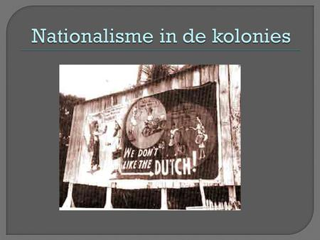 Nationalisme in de kolonies