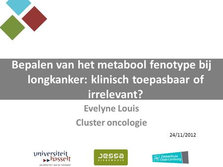 Evelyne Louis Cluster oncologie
