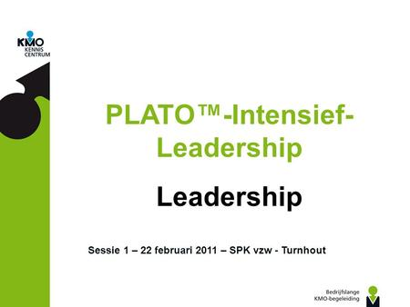 PLATO™-Intensief- Leadership