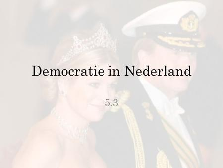 Democratie in Nederland