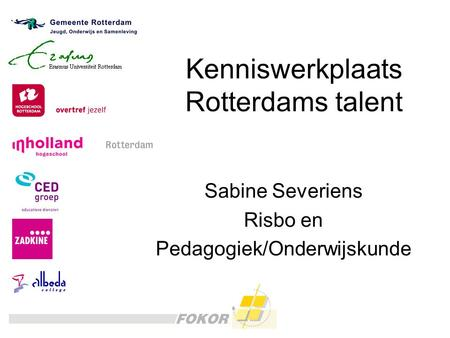 Kenniswerkplaats Rotterdams talent