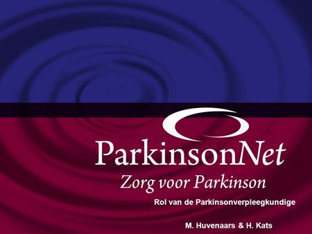 Optimale Parkinsonzorg