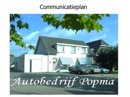 Communicatieplan.