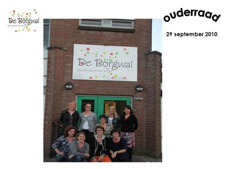 Ouderraad 29 september 2010.